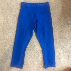 Blue Lululemon Cropped Leggings